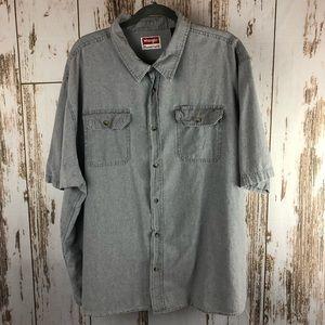 Wrangler Button Up Shirt, Size 3XL.  N35